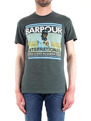 Barbour International t-Shirt Uomo Verde Steve McQueen Time ...