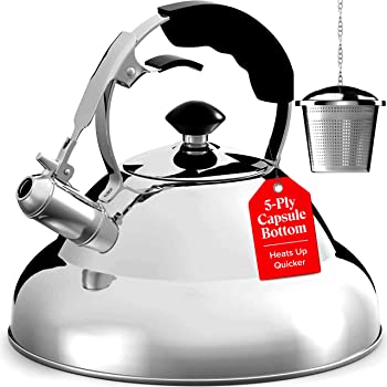 Willow & Everett Stainless Steel Whistling 2.75 quart Teapot