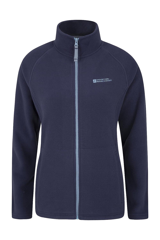 Mountain Warehouse Ash Womens Fleece Jacket - Full Zip Ladies Coat Navy 10 023621034005