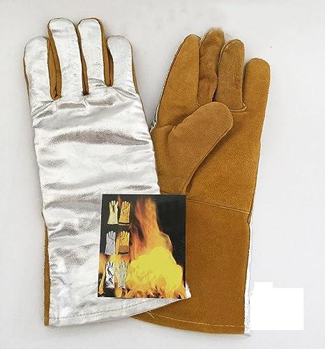 HJL Precio de guantes de soldadura de hilo de rosca, guante con forro, guante
