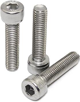Zylinderkopfschrauben 50 St/ück SC912 - Vollgewinde M10x40 - - DIN 912 aus rostfreiem Edelstahl A2 V2A Zylinderschrauben mit Innensechskant ISO 4762