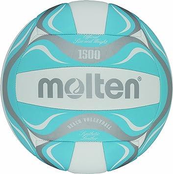 Molten Unisex s Beachvolley Freizeitball BV1500-LB White 5 Beach Volleyball  Ball 68fea65ae0f