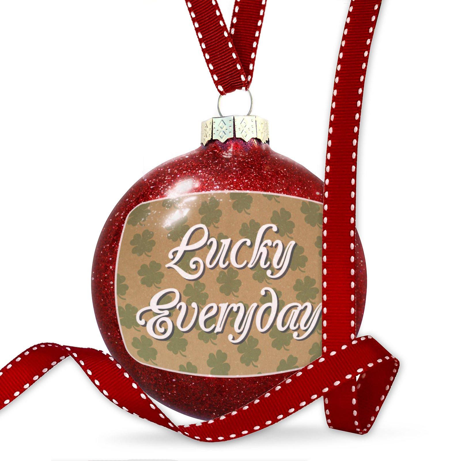 Christmas Decoration Lucky Everyday St. Patrick's Day Shamrock Kraft Pattern Ornament