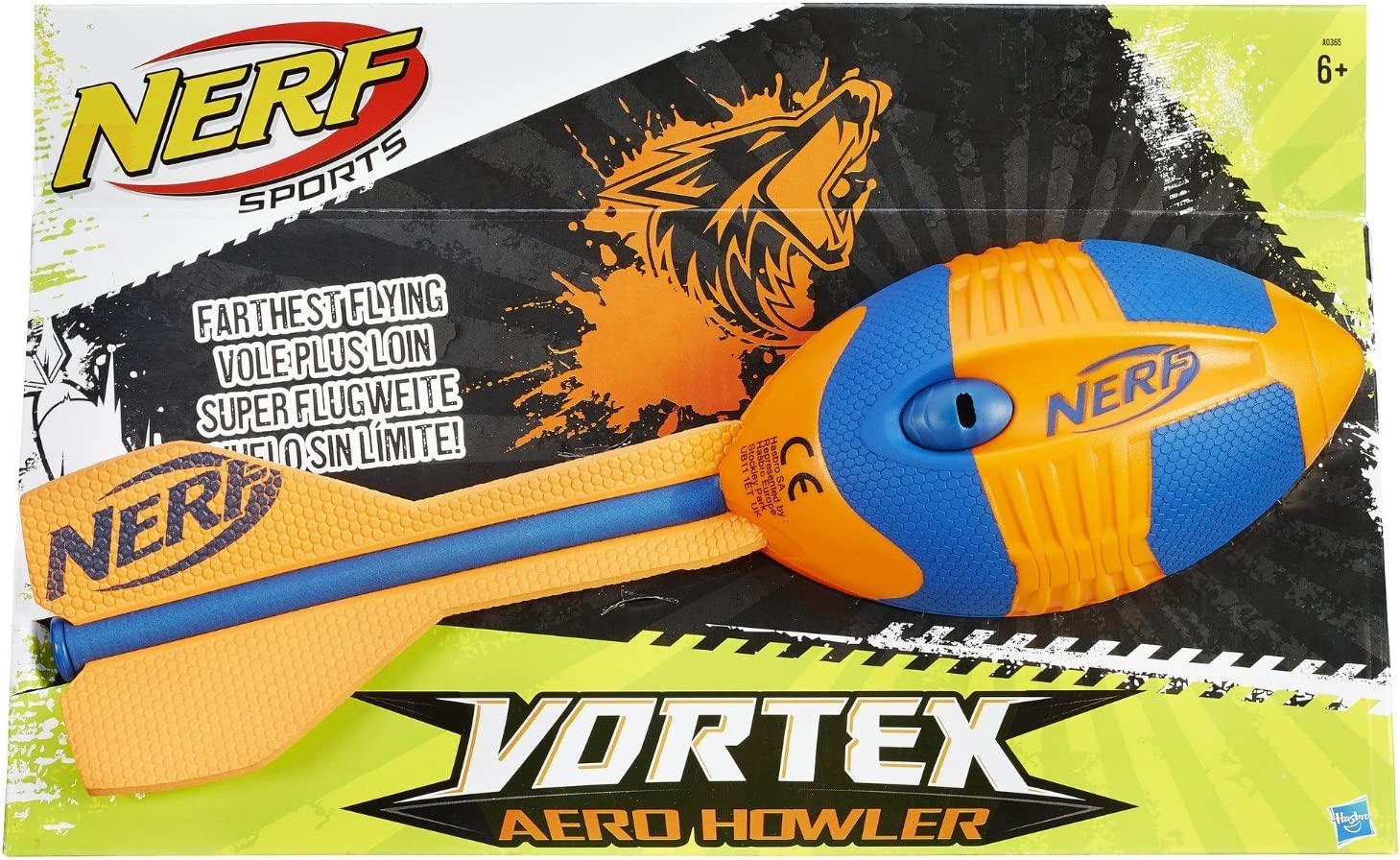 Nerf Vortex Whistler Football Assorted Colours Fun Outdoor Throwing Toy Game New