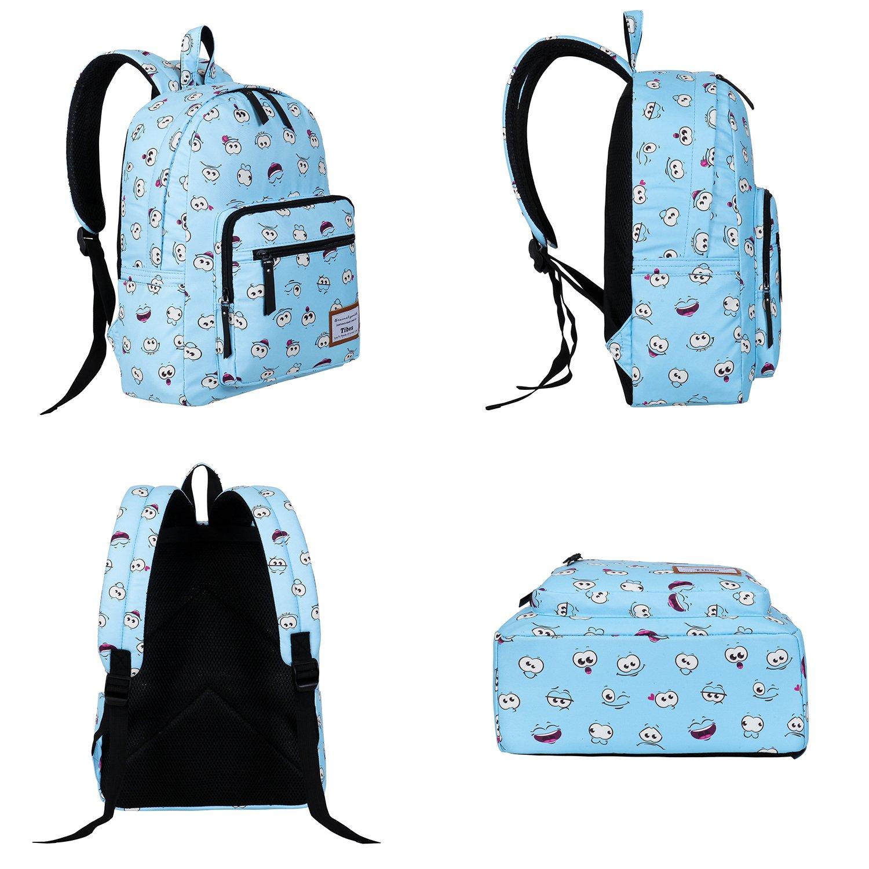 86e7bf968b TIBES Zaino Scuola Elementare Bambina Cartella Scuola Zaino In Tela  Schoolbag Espressione Zaino Borse Scolastiche: Amazon.it: Scarpe e borse