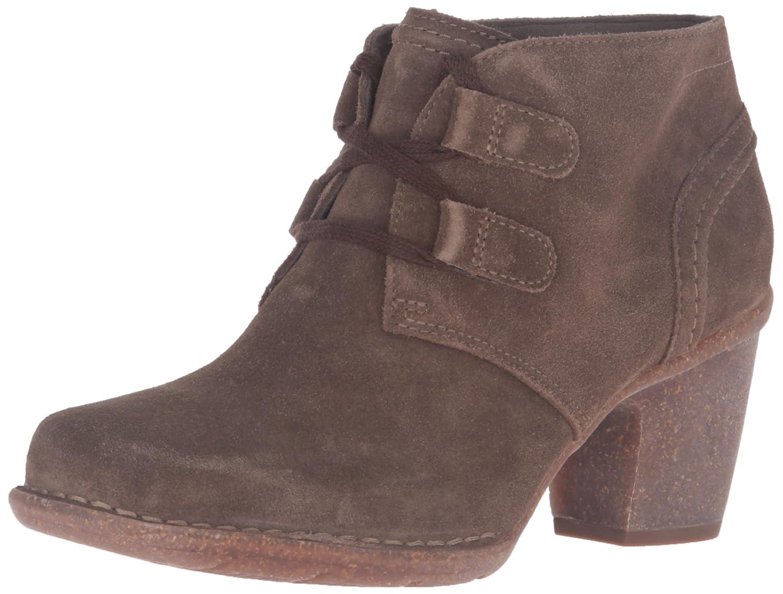 Khaki Suede Clarks Women's Carleta Lyon Boot