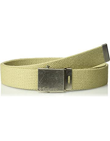 d6b7fa6ae94 Columbia Men s Military Web Belt - Casual for Jeans Adjustable One Size  Cotton Strap and Metal