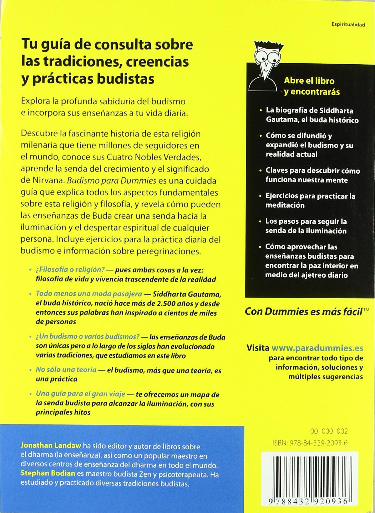 Budismo para Dummies: Amazon.es: Bodian, Stephan, Landaw, Jonathan ...