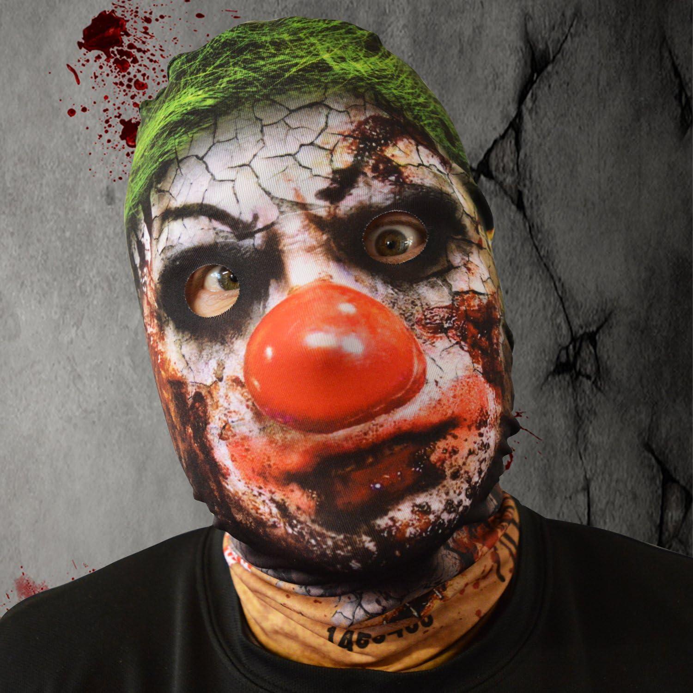 Máscara de Scary Halloween disfraz de Krusty Killer diseño de payaso Horror: Amazon.es: Hogar