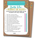 Baby Shower Mommy Or Daddy Guess Who Game, 25 Cards - Gender Neutral Boy or Girl, Mason Jar Design, Baby Shower Games, Baby Shower Decorations, Baby Shower Favors, Gender Reveal (Guess Who Game)