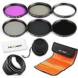 K&F Concept Filtri 77mm Kit Filtro FLD CPL UV ND2 ND4 ND8 Protettore Circolare Filtro Polarizzante Filtri neutri Microfibra Lente Pulizia Panno Paraluce Centro Pizzico Copriobiettivo Filtro Borsa Borsa per Canon Nikon Sony Fujifilm