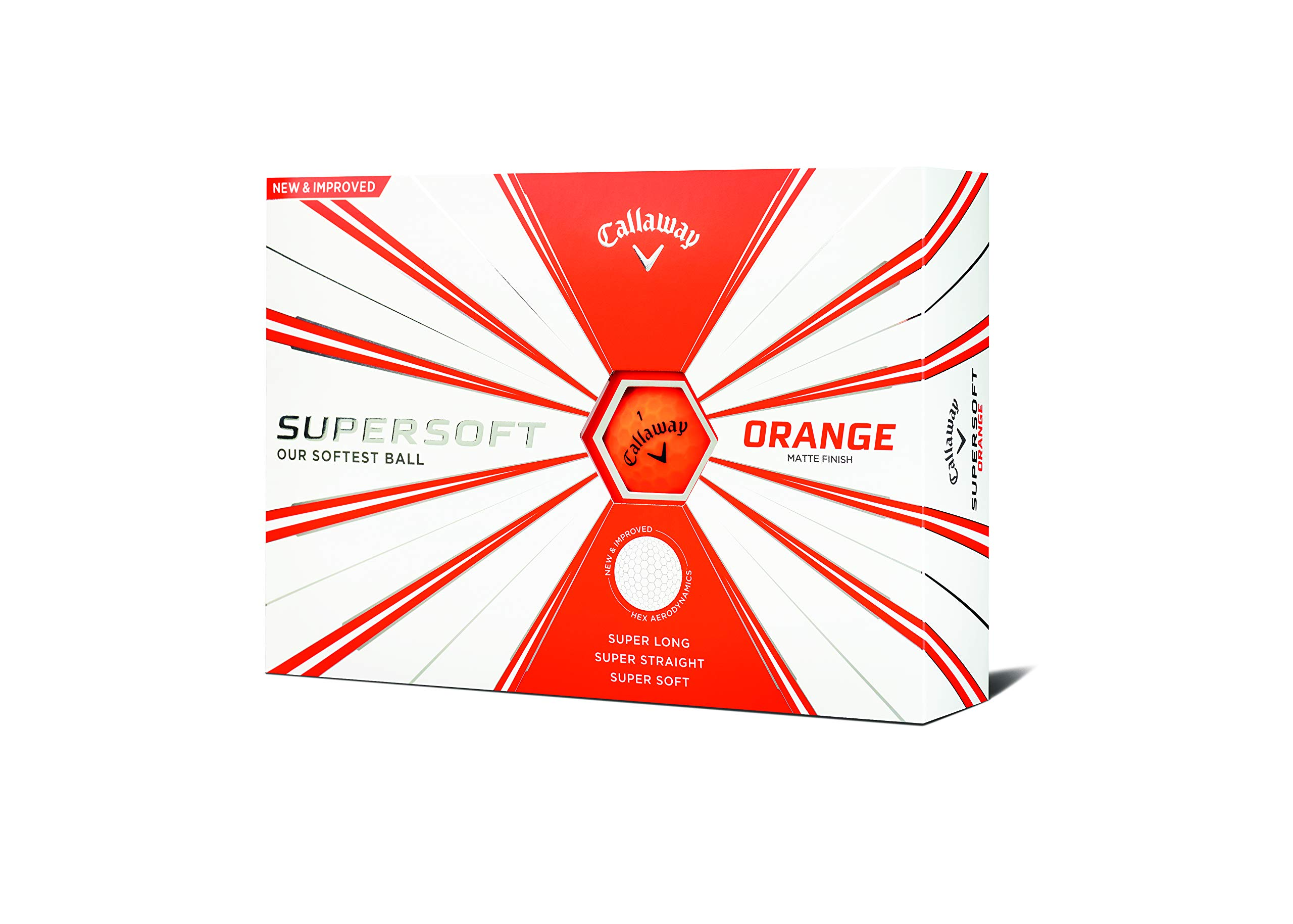 Callaway Golf Supersoft Golf Balls, (One Dozen), Orange, Matte Finish by Callaway