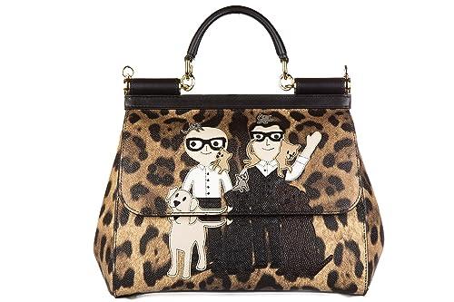 4bfafdb5c8 Dolce Gabbana Women s Dolce   Gabbana Medium  Sicily  Family Pets  Leopard-Print Handbag Leopard  Amazon.ca  Shoes   Handbags
