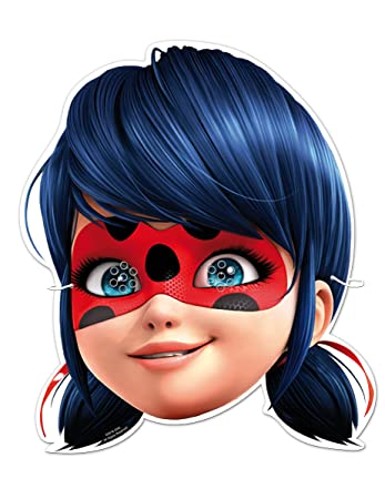 6 Maschere Ladybug Amazon It Giochi E Giocattoli