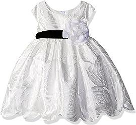 1d917509d Sweet Heart Rose Baby Short Sleeve Jacquard Scallop Hem Flower Girl Dress