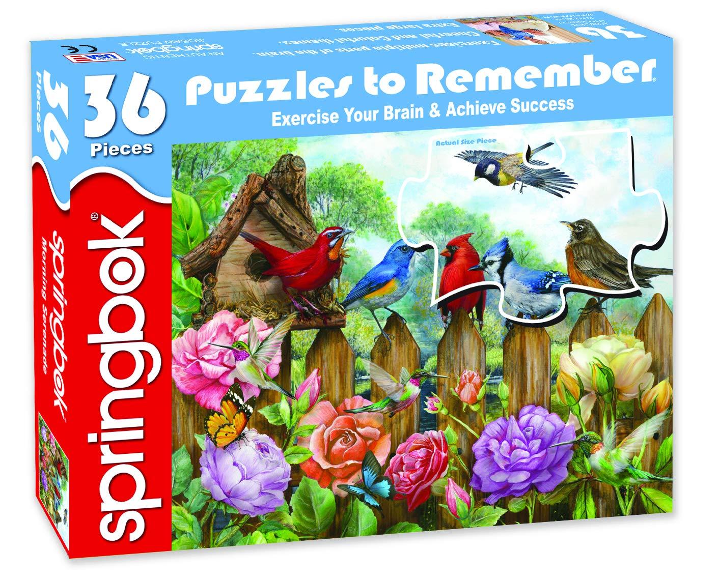23.5 by 18 Puzzle Springbok Puzzles- Morning Serenade Alzheimer /& Dementia Puzzle 36 Piece Made in USA Unique Cut Interlocking Pieces