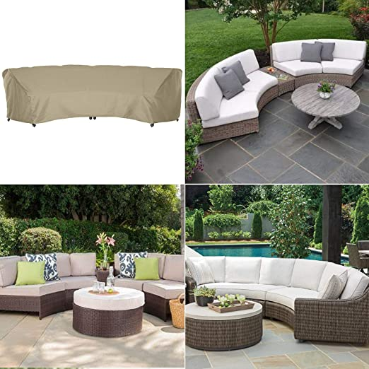 S:228x116x86cm favourall Waterproof Sofa Cover 1 Piece Oxford Cloth Curved Sofa Covers Furniture Covers for Garden Outdoor Indoor Patio Richly