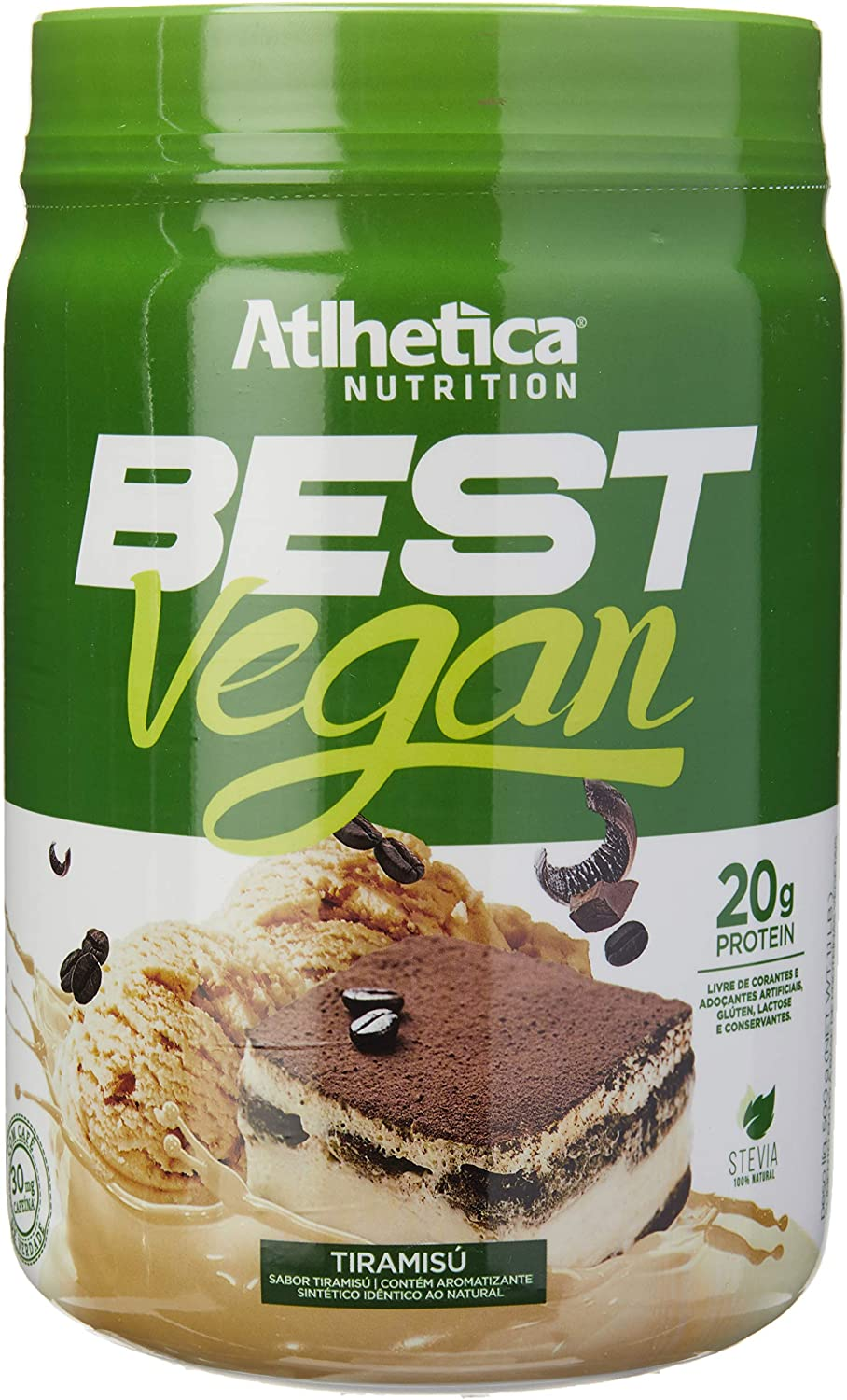 Best Vegan Tiramisú, Athletica Nutrition, 500G