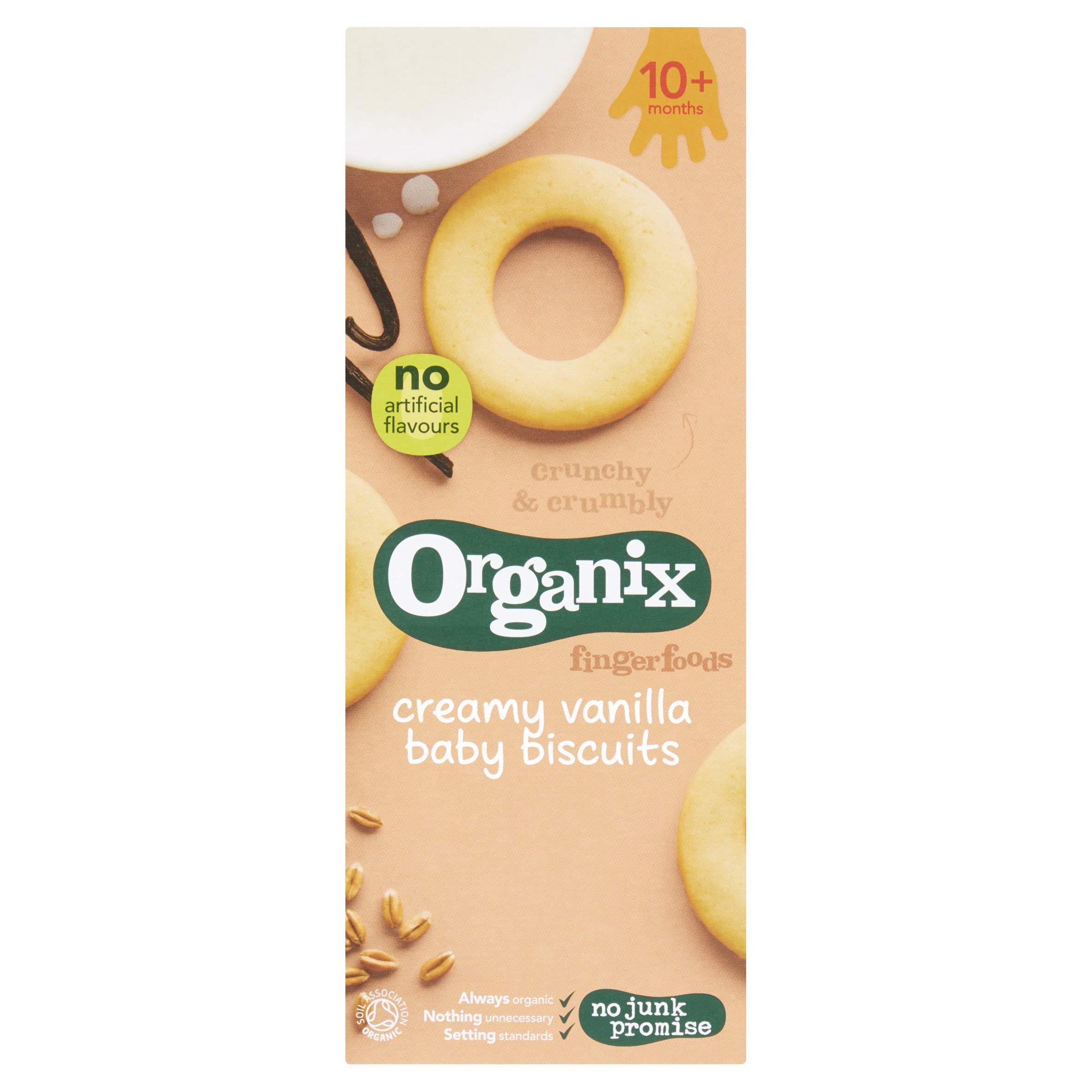 Organix Creamy Vanilla Baby Biscuits, 54g