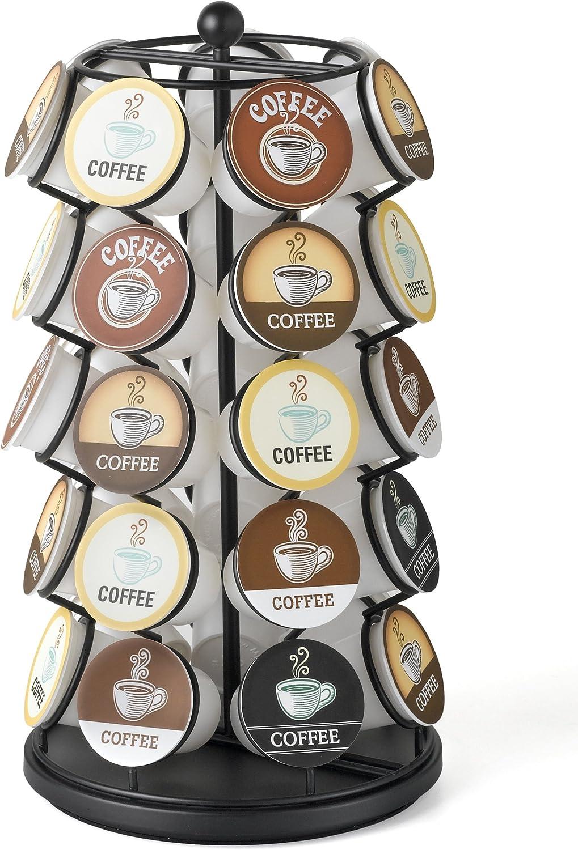 Nespresso Soporte compacto para c/ápsulas de caf/é color negro mate