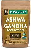 Organic Ashwagandha Root Powder | 16oz Resealable Kraft Bag (1lb) | 100% Raw from India | by FGO