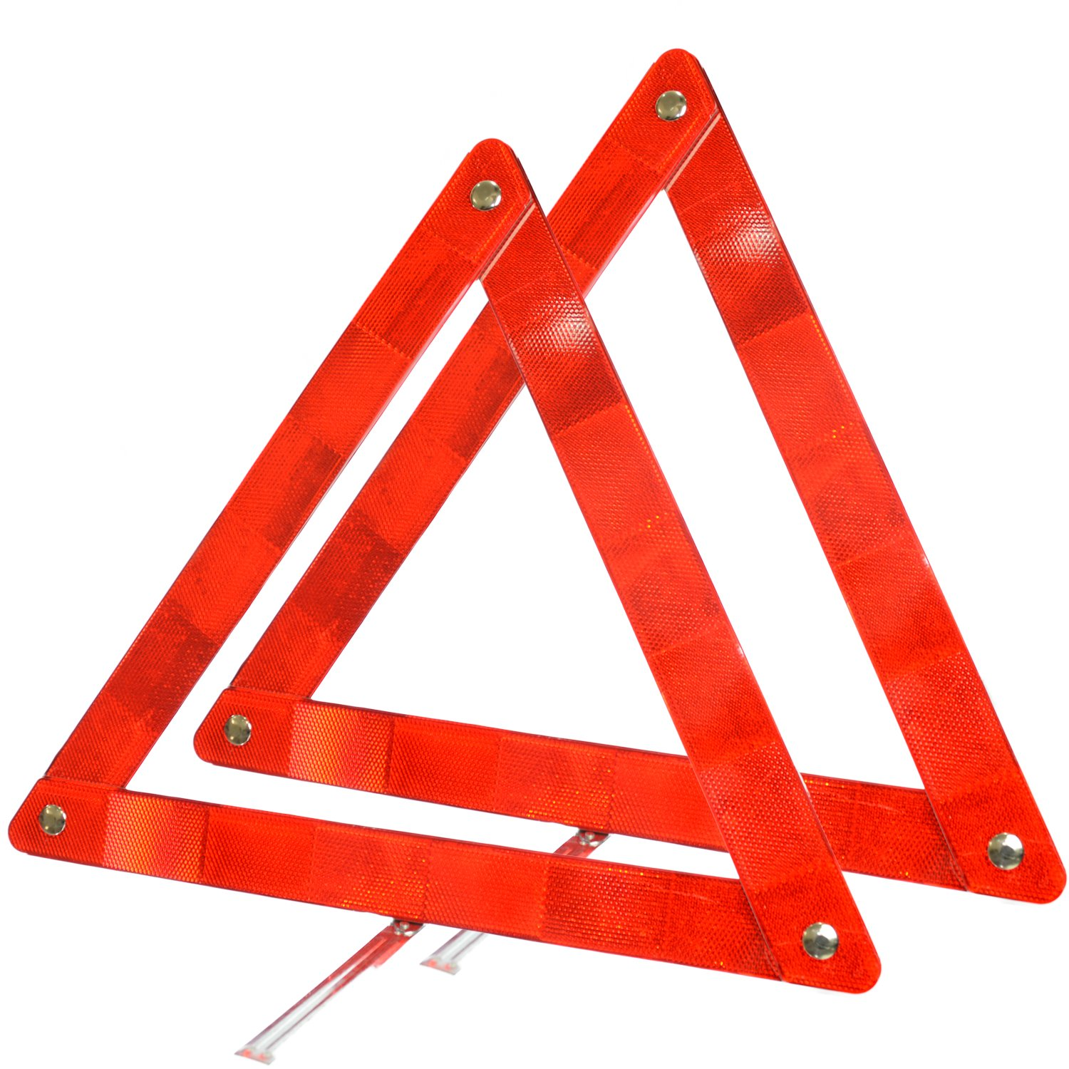 Majic Triangle Warning Reflector Alerts Motorist in case of Emergency or Tire Change, Collapsable Design (2-Pack)