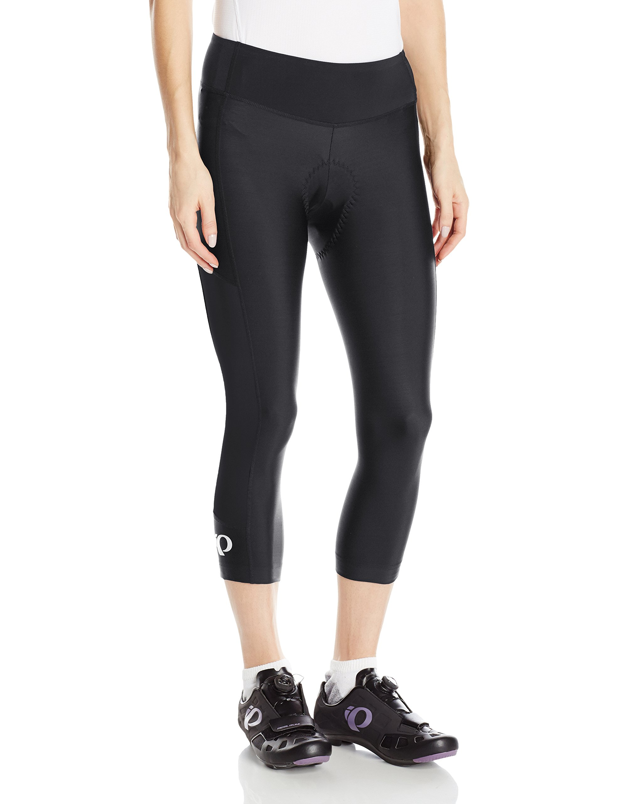 Pearl iZUMi Women's Escape Sugar CYC 3 Quarter Tights, Black/Black, X-Small