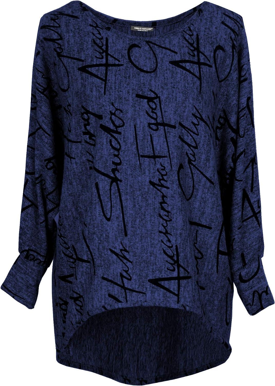 Damen Pullover Sweatshirt Oversize Emma /& Giovanni