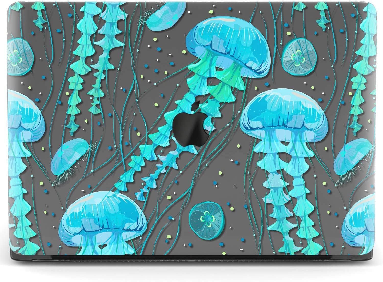 Mertak Hard Case for Apple MacBook Pro 16 Air 13 inch Mac 15 Retina 12 11 2020 2019 2018 2017 Print Ocean Underwater Protective Clear Cover Tentacles Laptop Plastic Animal Shell Jellyfish Teal