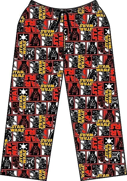 Star Wars - Pantalón de pijama - para hombre rojo negro (Small, Multi)