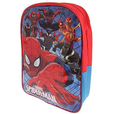 Spiderman - Mochila grande infantil (Talla Única/Rojo/Azul)