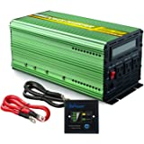 Edecoa 1500W Power Inverter Pure Sine Wave DC 12V to 110V AC with LCD Display and Remote