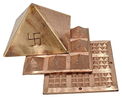 Plusvalue Copper Pyramid Set (4 Inch, Copper)