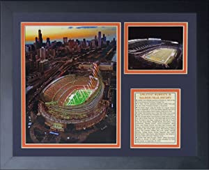 Legends Never Die Soldier Field New Framed Photo Collage, 11x14-Inch