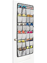 Unjumbly Over The Door Shoe Organizer, 24 Large Pocket Shoe Storage And  Closet Organizer With