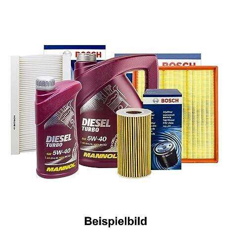MANNOL_bundle Bosch Juego de filtros inspektions del Paquete + 6L Mannol 5 W DE 40
