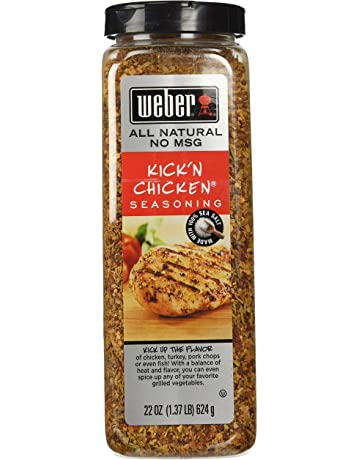 Weber Kickn Chicken Seasoning 22 Oz. Made with Sea Salt - No MSG
