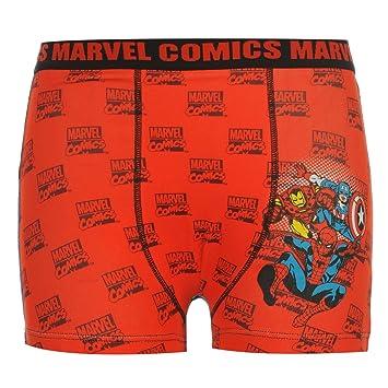 Marvel Comics Boxer Pantalones Cortos Ropa Interior Juniors Rojo Troncos Pantalones, Rojo
