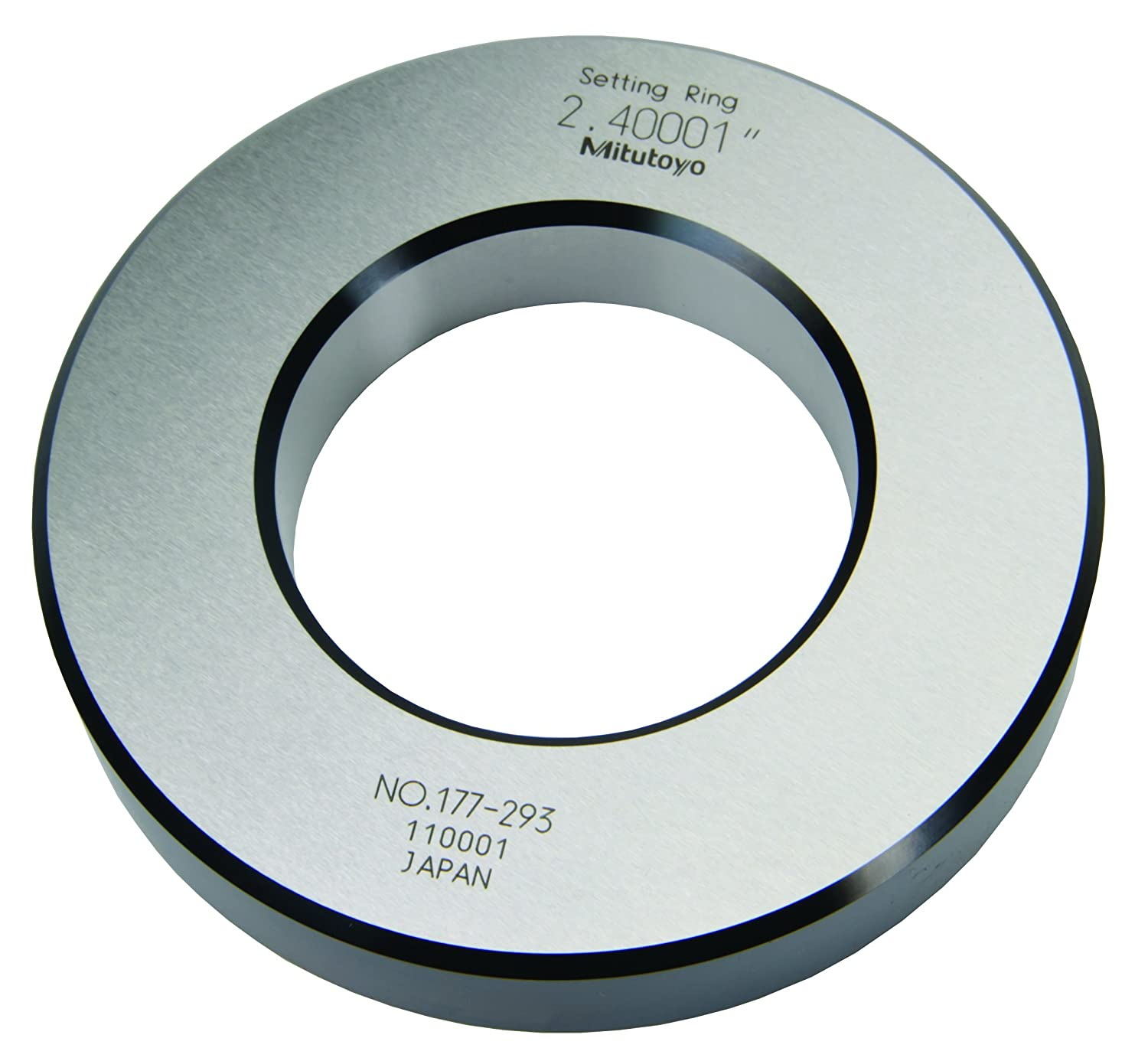 Mitutoyo 177-293 Setting Ring, 2.4' Size, 0.79' Width, 4.41' Outside Diameter, +/-0.00004' Accuracy 2.4 Size 0.79 Width 4.41 Outside Diameter +/-0.00004 Accuracy