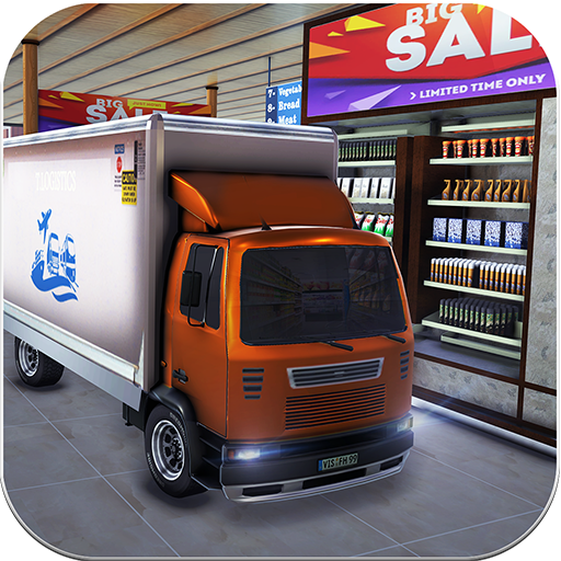 Drive Thru Supermarket Cargo Transport Truck Driving Simulator 2019: Cash Register Shopping Mall Car Driver & Forklift Crane Operator ()