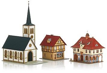 c02386067e52f7 Märklin 72785 - Bausatz-Paket Dorf  Amazon.de  Spielzeug
