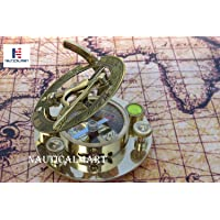 Fascinating Solid Brass Sundial Clock with Inset Compass