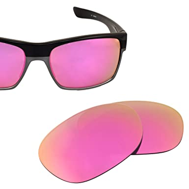 0df889523d LenzFlip Polarized Replacement Lens for Oakley TWO FACE - Polarized with  Pink Lady Mirror Lenses  Amazon.in  Clothing   Accessories