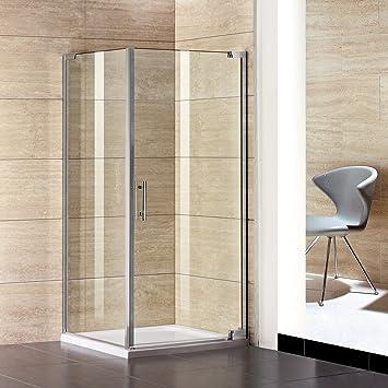 90 x 80 x 185 cm de ducha mampara de puerta de ducha + páginas de pared + plato de ducha P1-90E + 1B + SPP80E + ASR8090: Amazon.es: Bricolaje y herramientas