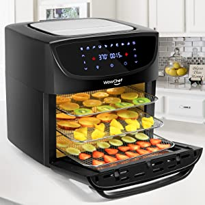 Air Fryer Oven Combo 20 Quart, Convection Toaster Oven Dehydrator, 10-in-1 Air Fryer with Rotisserie and Racks, Large Capacity Airfryer for Family, 9 Accessories with Cookbook, ETL Certified