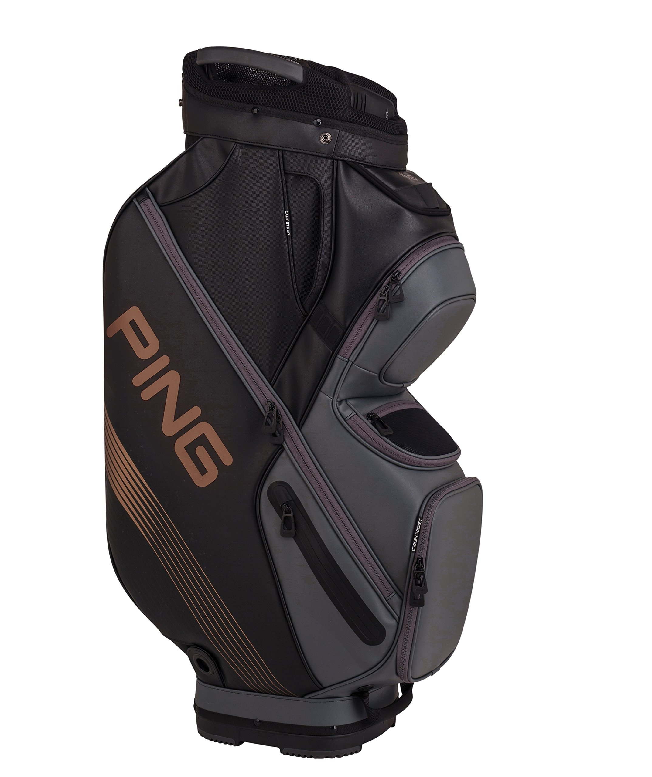 PING 2018 PING DLX 164 CART GOLF BAG 04 BLACK/GRAPHITE/CANYON COPPER