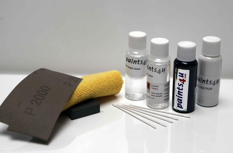 Paints4u Kit di vernici per rimozione graffi carrozzeria, per auto Volvo, colore: grigio titanio 455