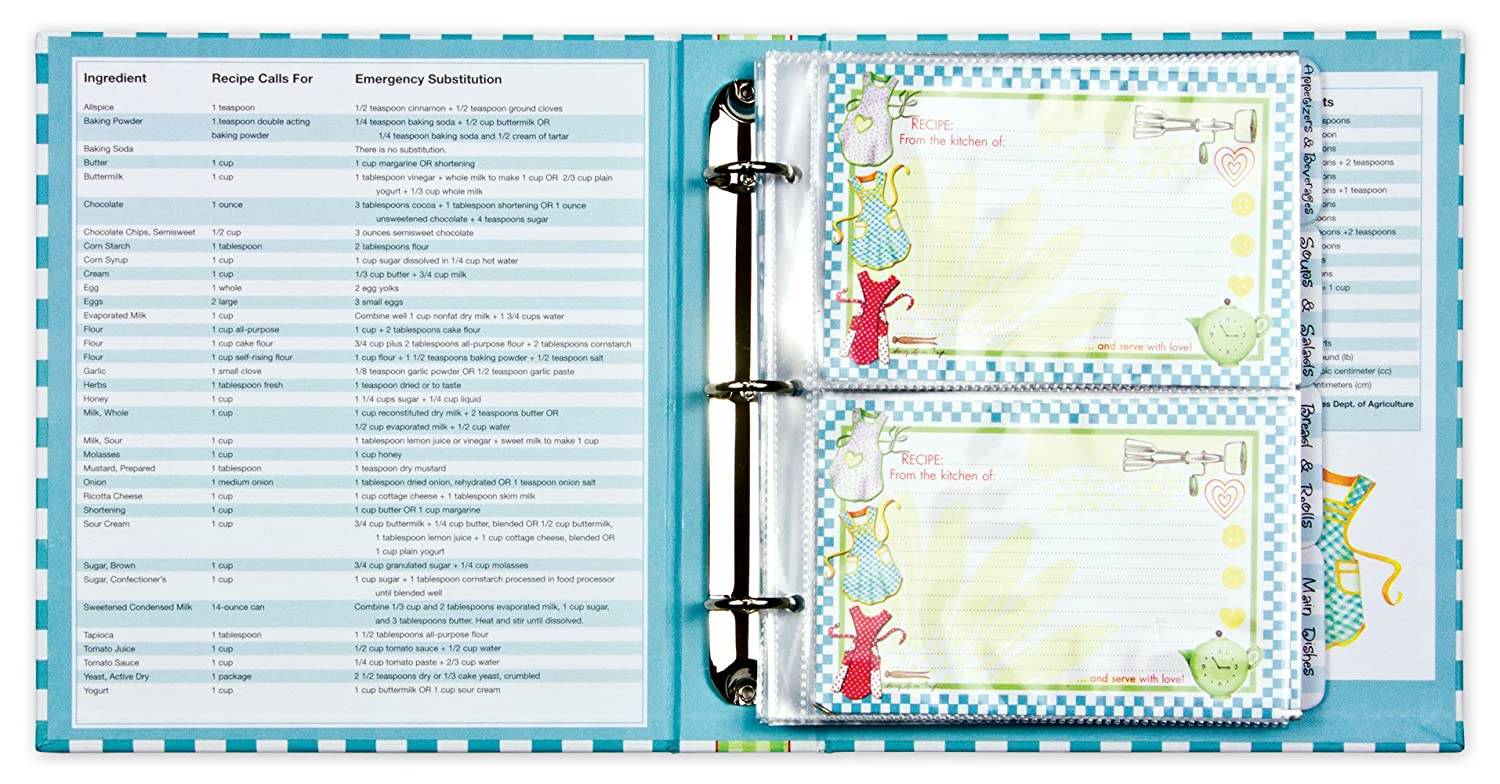 Amazon.com: Recipe Binder Set with Plastic Page Protectors and ...