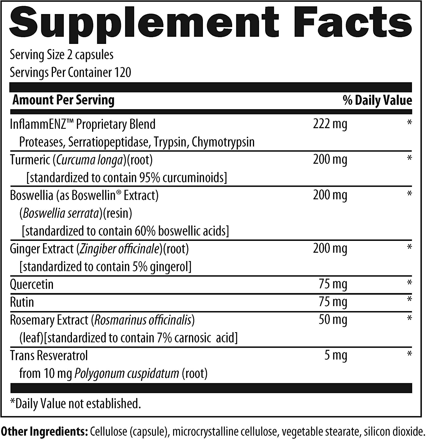 Designs for Health Inflammatone – Proteolytic Enzymes Turmeric Curcumin 240 Capsules