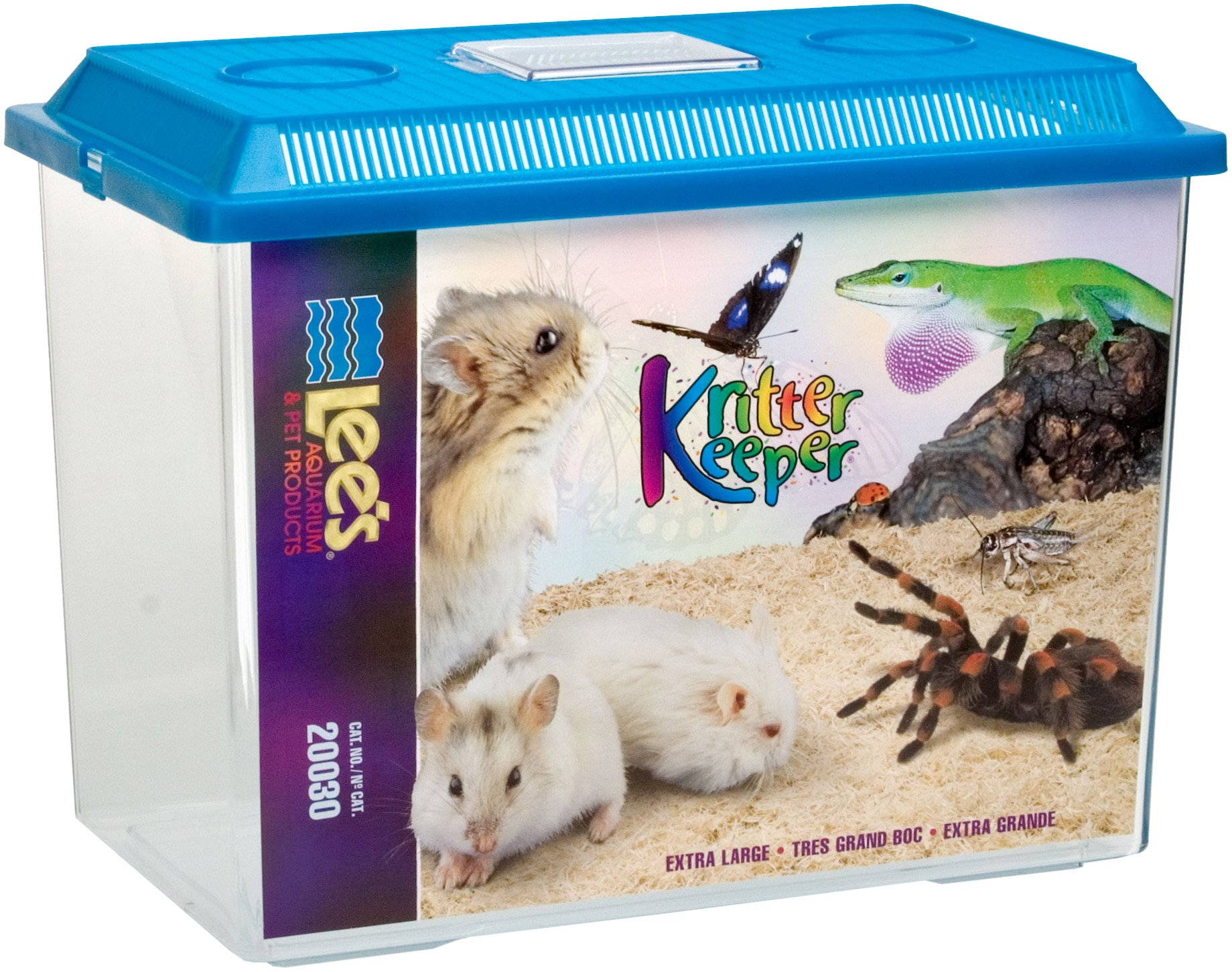 Lee's Kritter Keeper, X-Large Rectangle w/Lid(Assorted colors)